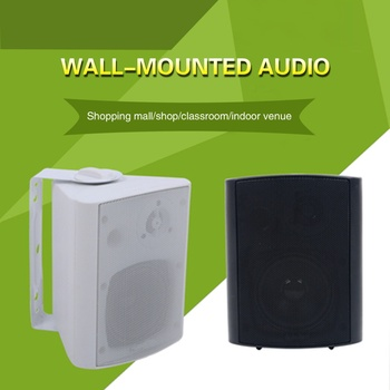 20W to 40W black and white Wall-mounted speaker background music indoor speaker broadcast speaker used in classroom restaurant