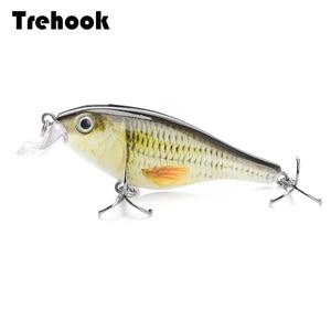 Image 1 - Trehook 7.5Cm 11G Gewonde Minnow Wobblers Vissen Lokken Harde Aas Crankbait Peche Bass Kunstmatige Baits Pike Karper Lokt swimbait