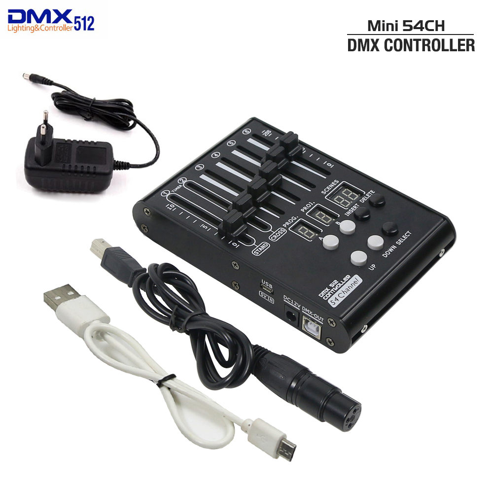 2020 NEW MINI DMX Console 54 Channels Stage Lights Controller DMX 512 Controller For Home KTV Entertainment DJ Control