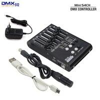 2020 yeni MINI DMX konsolu 54 kanallı sahne ışıkları denetleyicisi DMX 512 denetleyici ev KTV eğlence DJ kontrol