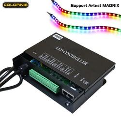 H802ra Artnet WS2811 WS2801 Led Decoder Led Strip Light Madrix Pixel Controller DMX Artnet Controller