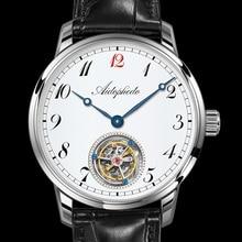 2020 男性同軸トゥールビヨン機械式時計トップブランドの高級オリジナルST8230 運動時計メンズ時計ワニ革