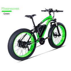 Electric bicycle motor 500W auxiliary bicycle electric bicycle 48V17A lithium electric atv 26-inch electric sn fluorescent green