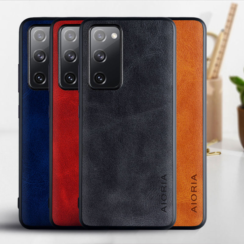 Case for Samsung Galaxy S20 FE Ultra Plus coque Luxury Vintage PU leather Skin cover for samsung s20 fe plus case funda capa