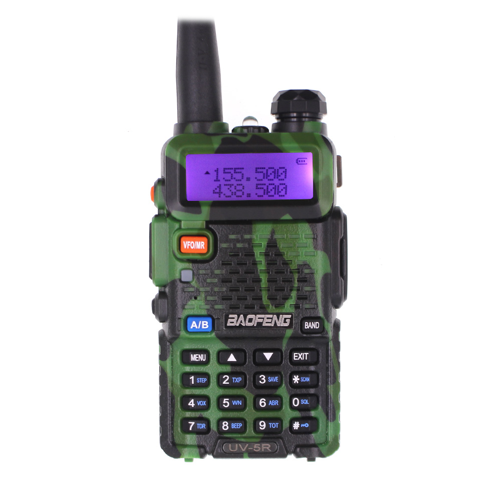 BaoFeng UV-5R Walkie Talkie Camo Baofeng Ham Radio VHF UHF 136-174Mhz & 400-520Mhz 128CH 1800mAh 5W Radio Communicator