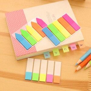 Корейские канцелярские флуоресцентные самоклеющиеся блокноты для заметок, клейкая закладка для заметок, маркер, стикеры для заметок, бумаг...