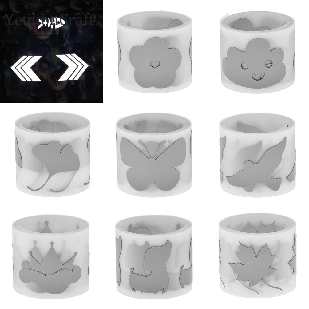 YeulionCraft 100x3CM Flower Heat-transfer Reflective Tape Stciker Vinyl Film DIY Iron On Fabric Clothing Accessories