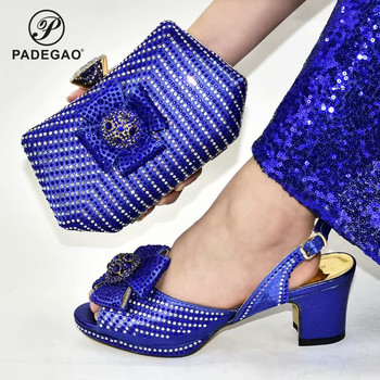 Italian Ladies with Matching Bag 2020 New Arrivals African Shoe and Bag Set for Party And Wedding Nigerian Shoes and Bag