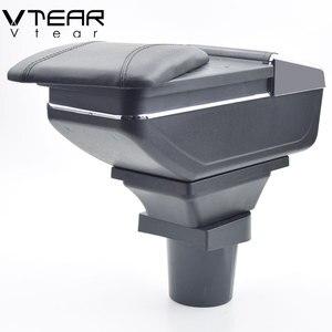 Image 4 - Vtear עבור טויוטה אקווה פריוס C משענת עור ABS זרוע שאר usb אביזרי להגן אחסון תיבת חלקי פנים רכב סטיילינג אוטומטי