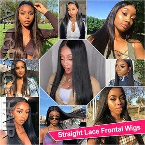 Image 5 - Ali Grace – Perruques de cheveux raides T, à dentelle frontale pour femme, brésiliens, humains, en 13x4, couleur naturelle