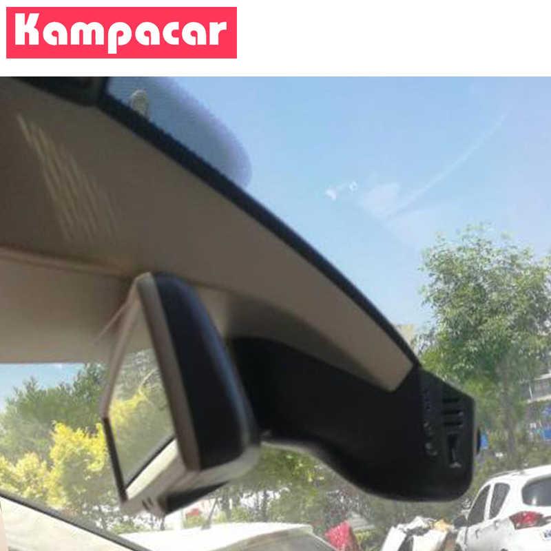 Kampacar HD WiFi samochód DVR Dash Cam dla Volkswagen Touareg 2013 2014 tuaregów 2015 2016 2017 2018 2019 dwie kamery obiektyw Kamera samochodowa