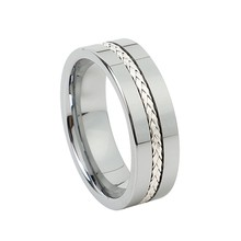 Wholesale luxury 925 sterling silver inlay tungsten carbide jewelry hand finger rings for men(China)