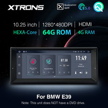 XTRONS Qualcomm Bluetooth 5,0 AptX 10.25 ''Android PX6 Auto-Radio-Player GPS für BMW E39 M5 1999-2003 7 serie E38 KEINE DVD