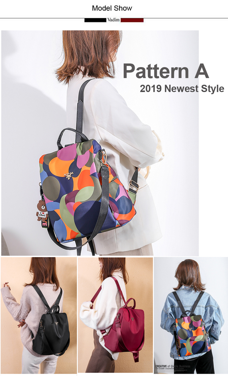 H7581b9adf1a4430db44687613c50354bL - Vadim New Fashion Women Backpacks  Waterproof Oxford Backpack Female Anti Theft Bagpacks School Bags for Girls Mochila Mujer