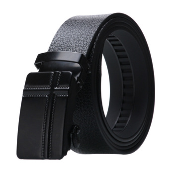 Men's High quality Artificial Leather Automatic buckle Belt Alloy buckle Durable Bark texture Business fashion casual jeans Belt цена 2017