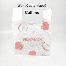 10 adet şeftali Pizza yemek lansmanı çantası sebze alışveriş çantası meyve tasarım gıda ambalaj çantası kek çantası olabilir özel Logo