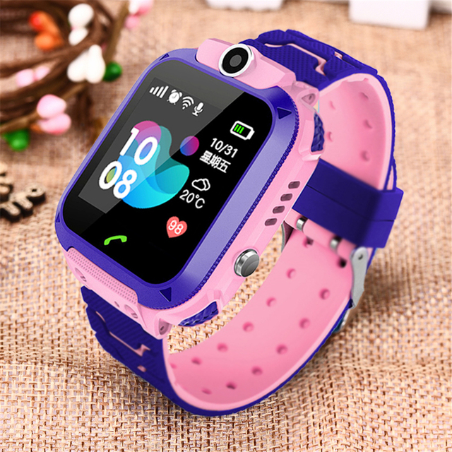 Smart Watch Kids IP67 Waterproof Sport GPS Smart Clock Android Children SOS Call Smartwatch with Camera SIM Card HD Touch 2