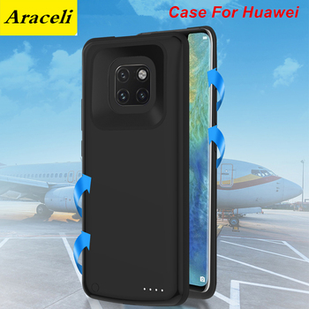 Araceli For Huawei Mate 20 20 Pro 30 30 Pro Enjoy 9 10 10S 10 Plus Battery Case Phone Stand Cover Smart Power Bank Charger Case