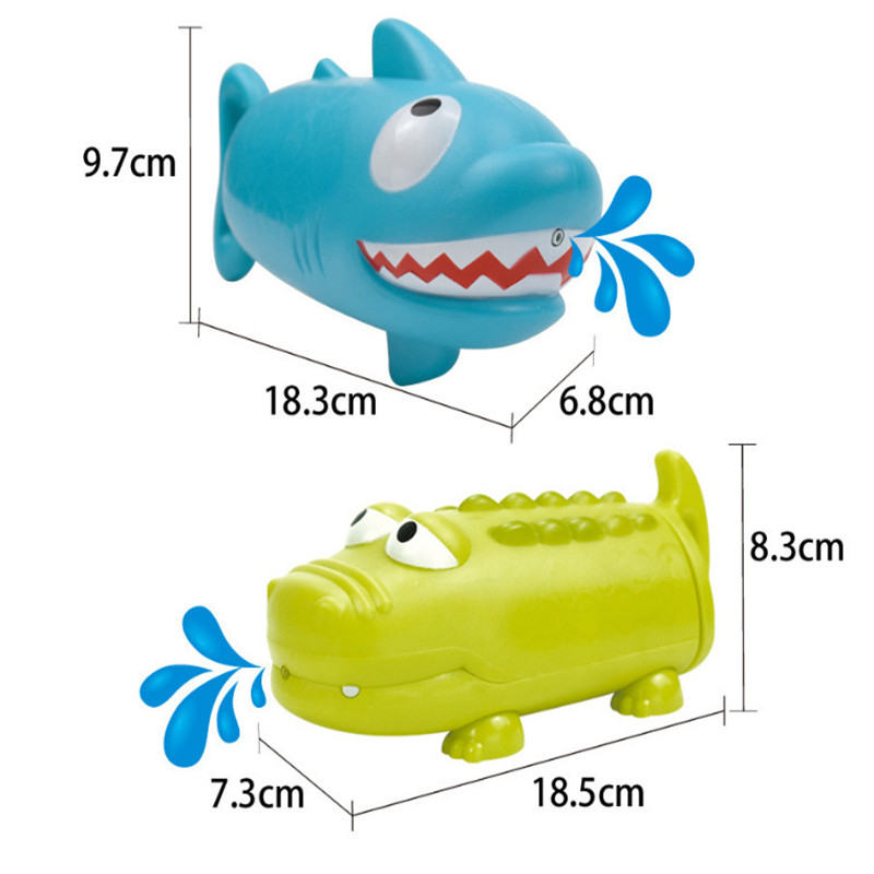 cheapest Children s Pumping Water Cannon Toy Crocodile Shark Shape Summer Beach Outdoor Swimming Pool Game Playing Water Toys In Stock