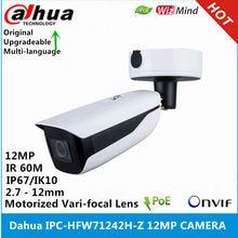 Dahua IPC-HFW71242H-Z 12MP 2,7 mm-12 mm Motorisierte variabler brennweite IR 60M POE ANPR WizMind Kugel IP Kamera