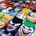 Мужские Веселые забавные носки, длинные носки с мультяшным аниме, мужские крутые короткие носки, уличная мода, с швейным рисунком