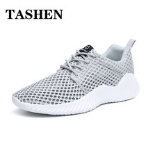 2019 New Breathable Outdoor Running Shoes Lace Up Mens Mesh Shoe Comfortable and Light Cushioning Sneakers Sport Shoes Men цена в Москве и Питере