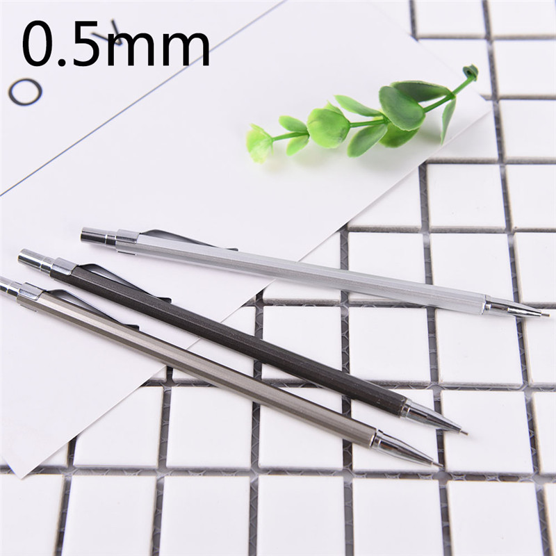 High Quality Full Metal Mechanical Pencil 0.5 0.7 Mm Professional Drawing Design Painting Automatic Pencil