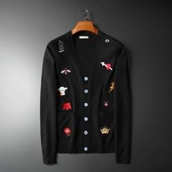 Nieuwe Mannen Luxe Borduurwerk Bee Slang Crown Ufo Luipaard Knit Casual Truien Vesten Aziatische Plug Size Hoge Kwaliteit Drake # m95