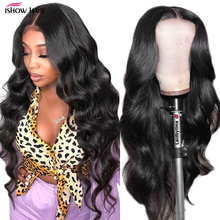 Perruque Lace Front Wig Body Wave naturelle – Ishow, cheveux humains, 13x4, 5x5, pre-plucked, Lace Frontal Wig, Transparent