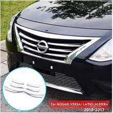 Hot FRONT MESH GRILLE HEAD BUMPER COVER TRIM FOR NISSAN VERSA LATIO ALMERA 15-17(China)