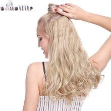 S-noilite, 18-28 дюймов, волнистые длинные волосы, 5 клипс в одном куске, синтетические волосы для наращивания на клипсах, шиньон для женщин