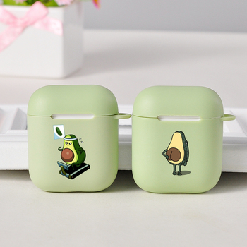 Cute Cartoon Avocado Case for Airpods Pro Cover Airpods 2 Case Cute Luxury Soft Silicone Air Pod Bluetooth Earphone Accessories 3d lucky rat cartoon bluetooth earphone case for airpods pro cute accessories protective cover for apple air pods 3 silicone