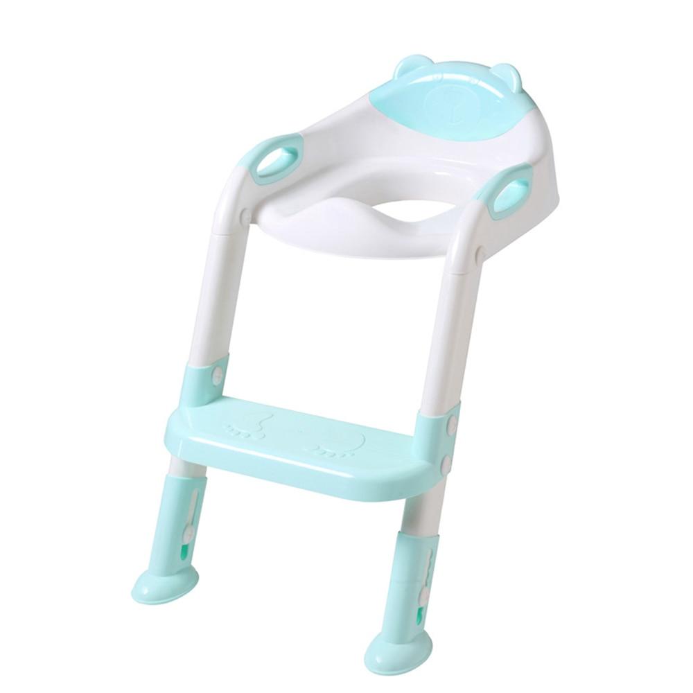 Baby Plastic Light Blue Step Stool Anti-Slip Toddler Toilet Potty Training Stool