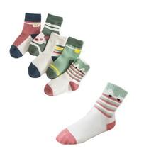 5 Pairs/pack Boys And Girls Cartoon Cotton Socks