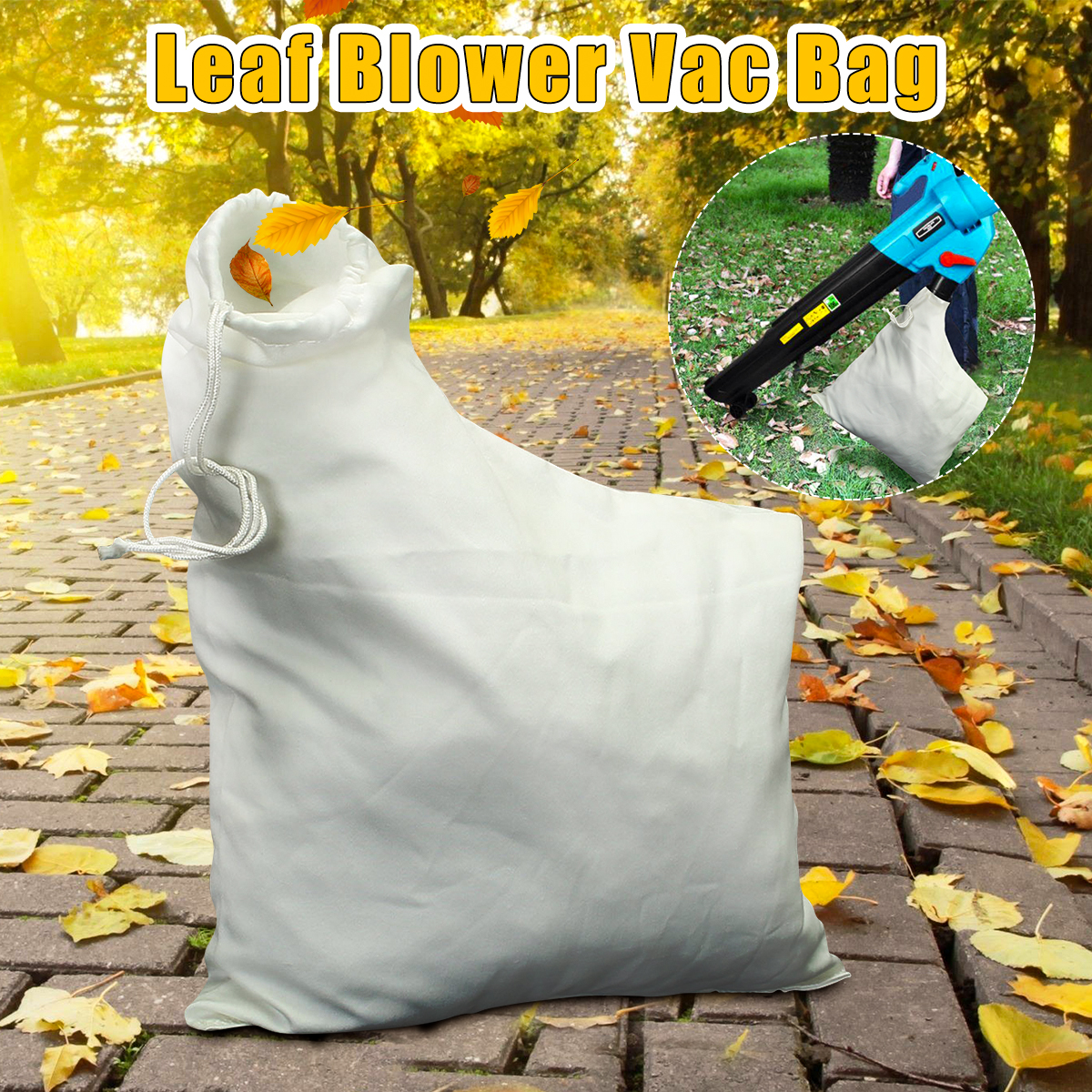 Leaf Blower Vacuum Bag Fit For Wee D Eater Barracuda 2595 Mulcher Lawn Yard Shredder Garden Tool Storage Bag Accessories