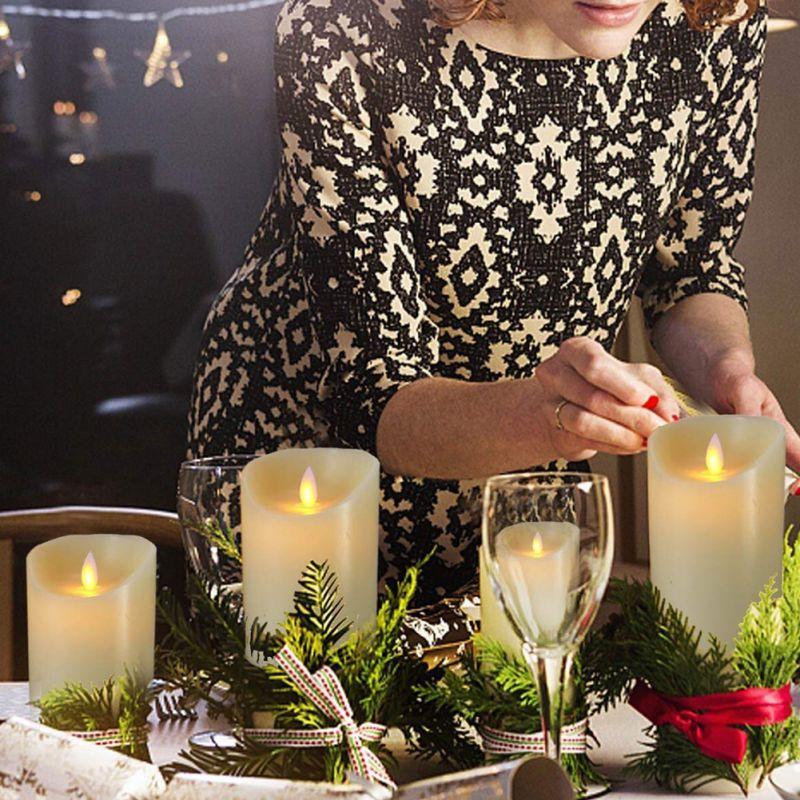 LED electrónico velas sin llama luces de velas a batería fiesta boda cumpleaños Festival romántico regalo de San Valentín - 3