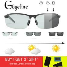 2019 Driving Photochromic Sunglasses Men Polarized Chameleon Discoloration Sun g