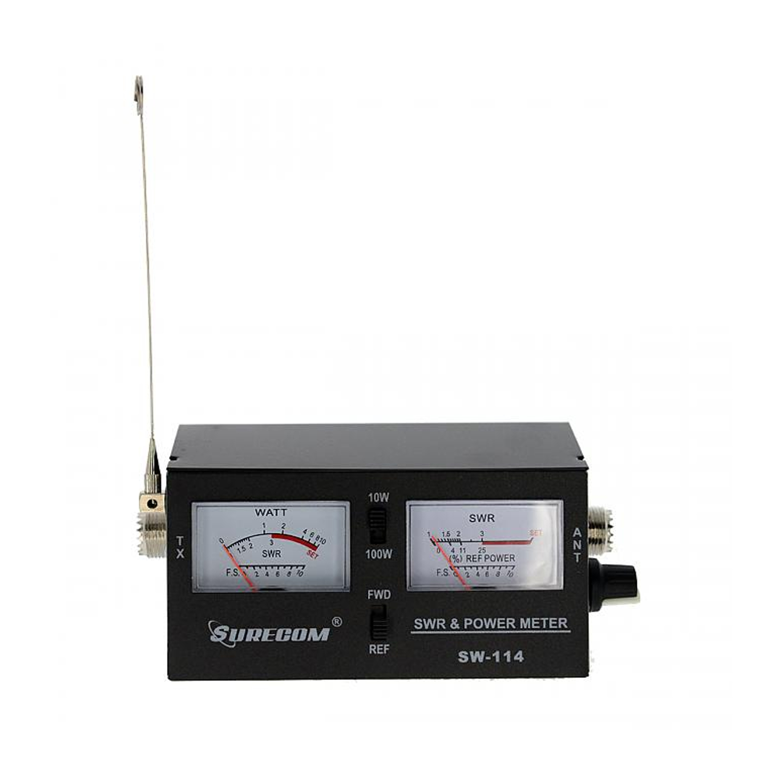 Surecom SW-114 SWR/RF/Field Strength Test Power Meter for Relative Power 3 Function Analog with Field Strength Antenna
