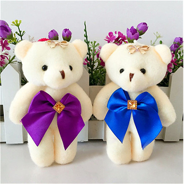 1PCS Plush Bouquet Bear Toys Fluffy Skirt  Dolls Cute Mini  Cotton Bears Doll Toy for Girls Small Pendant Valentinepa Party Gift