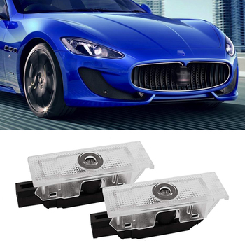 Car LED Door Projector Logo Ghost Light For Maserati Quattroporte GranTurismo Ghibli GranCabrio Levante Welcome Lamp Accessories image