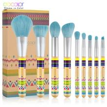 Docolor 9Pcs Makeup brushes Professional Beauty Make up brush set Synthetic hair Foundation Powder Eye Shadow Blush brushes