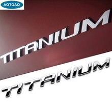 Aqtqaqq – autocollants 3D en métal titane pour Ford, 1 pièce, autocollant d'emblème de garde-boue latéral de voiture, coffre arrière, pour EcoBoost EDGE Explorer, accessoires