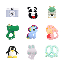 Silicone Diy-Accessories Animals-Shape Food-Grade Baby Teething Pacifier-Clips Tiny Bpa-Free