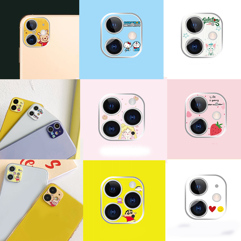 NEW Cartoon Flower Clear Camera Lens For IPhone 11 Pro MAX Camera Lens Cute For IPhone 11 Film Aluminum Plastic Lens Protection
