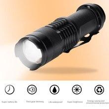 Тактический фонарь светодиодный фонарик Zoom фонарик XML T6 CREEQ5 военный кемпинг водонепроницаемый альпинистское Походное освещение
