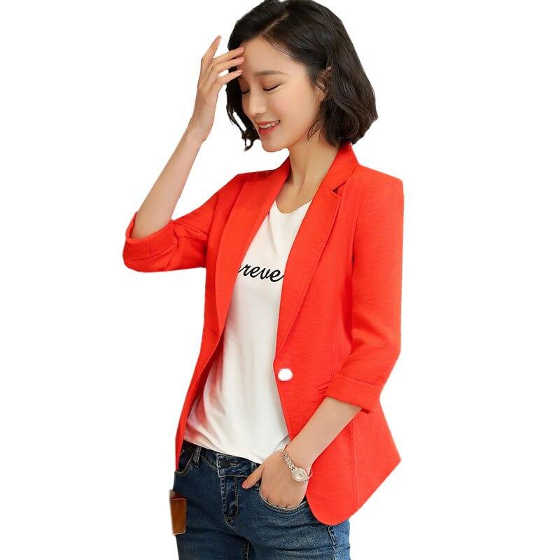 Elegant Ladies Blazer casual Long Sleeve Blaser Women's Suit jacket Female Blazer white Black Green Red Blazer Spring Autumn coa