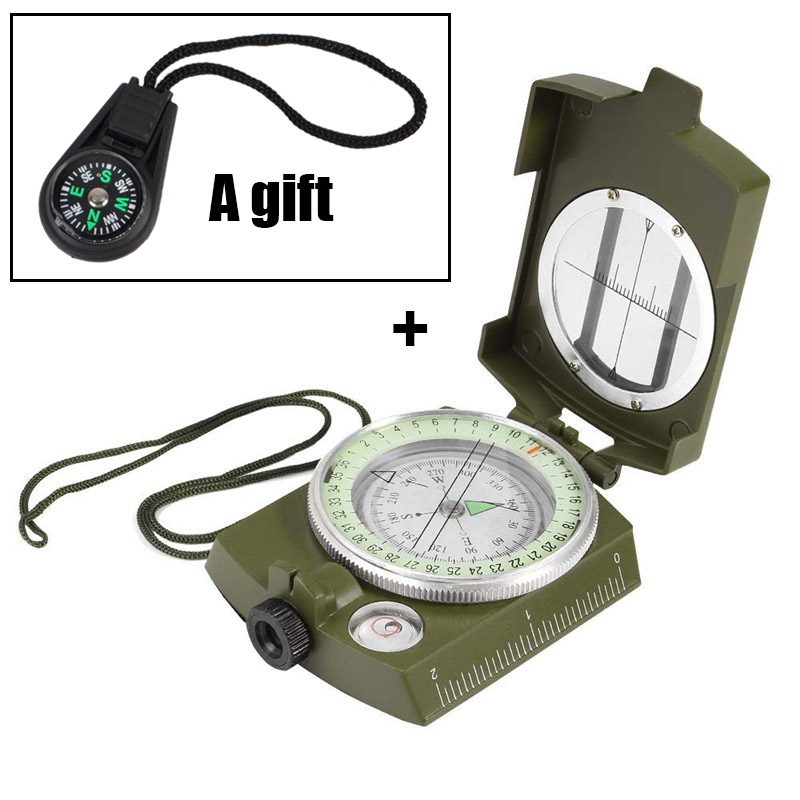 Outdoor Waterproof Compass Survival Emergency Geological Digital Luminous Compass Hiking Camping Hunting Military Equipment