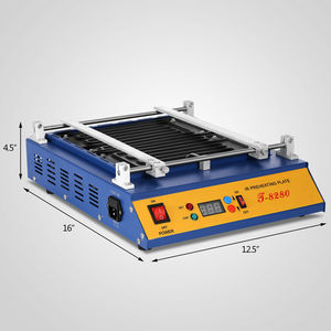 Image 4 - 1600W IR PCB Infrared Preheater BGA Rework Preheating Station T 8280 European Counties Free Shipping