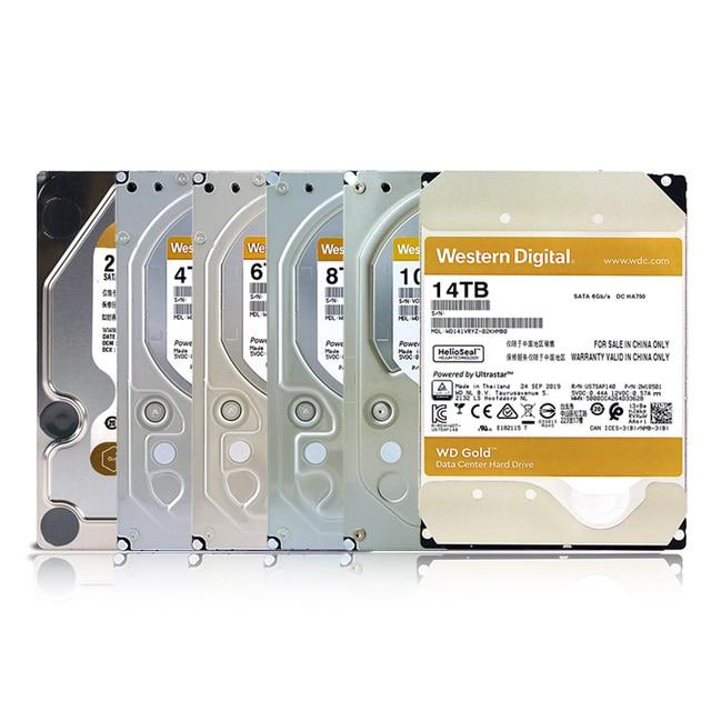 WD Western Digital Gold HDD 2TB 4TB 6TB 8TB 10TB 14TB Hdd Sata 3.5 Internal Hard Disk Harddisk Hard Drive Disque Dur Desktop