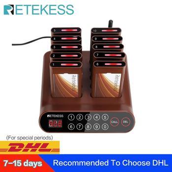 Самый дешевый пейджер для ресторанов RETEKESS T116A, система вызова официантов, система вызова пищевого пейджера, система вызова очереди для рест...